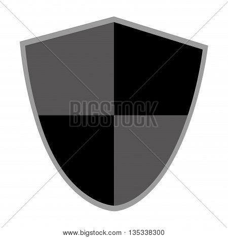 pointy black and grey shield vector illustration