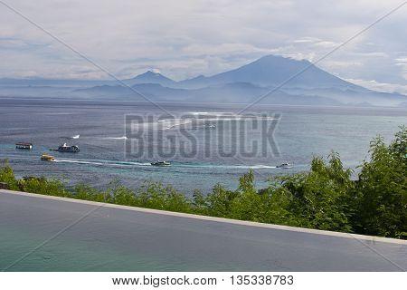 Coast in Lembongan Island in Bali, Indonesia, Asia