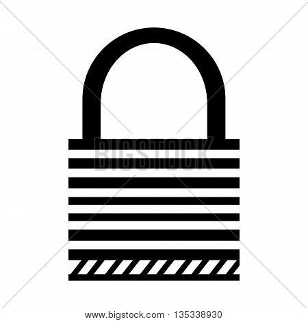 safety lock vector illustration flat style design