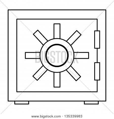 simple black line safety vault vector illustration