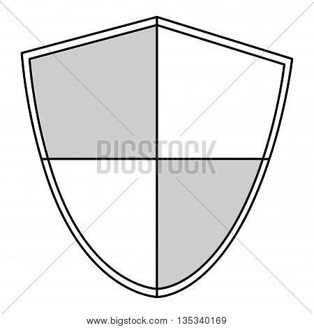 simple black line pointy shield vector illustration