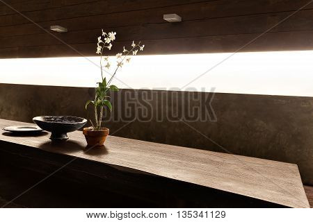 Flowering Plant In A Vase And Other Fancy Items