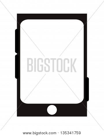 cellphone with one button in the front and three to the sides vector illustration