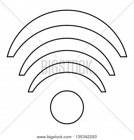 wifi line icon on flat style design