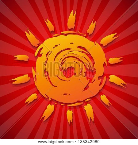 Poster With Sun
