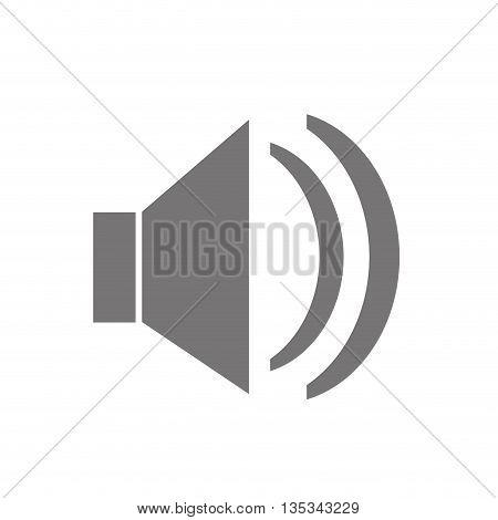 SPeaker icon design on flat style design