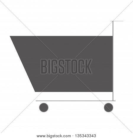 icon of shoping cart on flat style, vector design