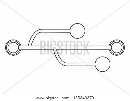 usb connection symbol on line style, vector illustration