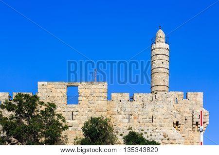 Tower Of King David In Jerusalem