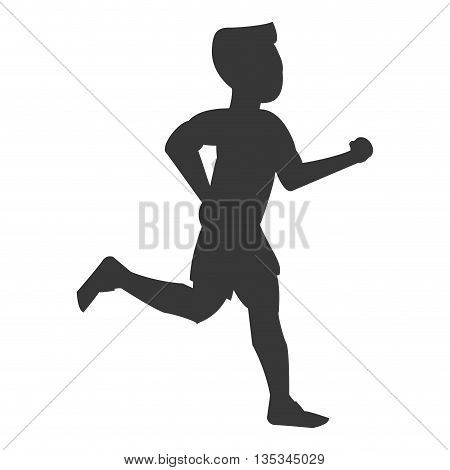 silhouette of person jogging vector illustration flat style design