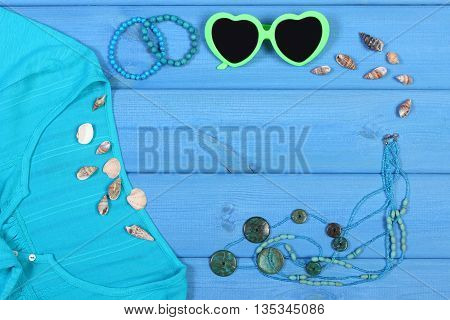 Clothing For Woman And Accessories For Vacation And Summer, Copy Space For Text