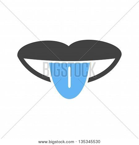 Tongue, human, mouth icon vector image. Can also be used for human anatomy. Suitable for mobile apps, web apps and print media.