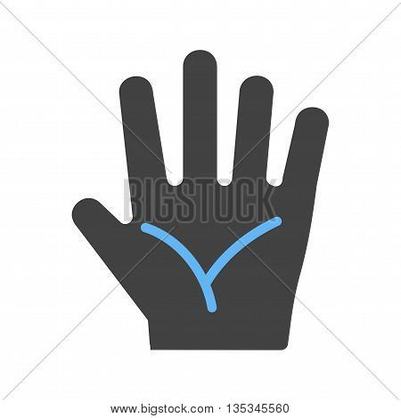 Hand, fingers, body icon vector image. Can also be used for human anatomy. Suitable for mobile apps, web apps and print media.