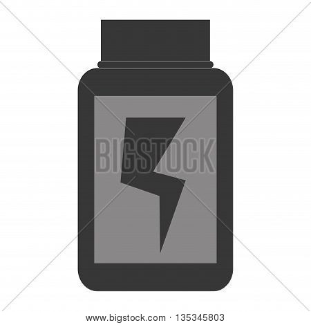 simple grey container dietary supplement with lightning bolt in the center