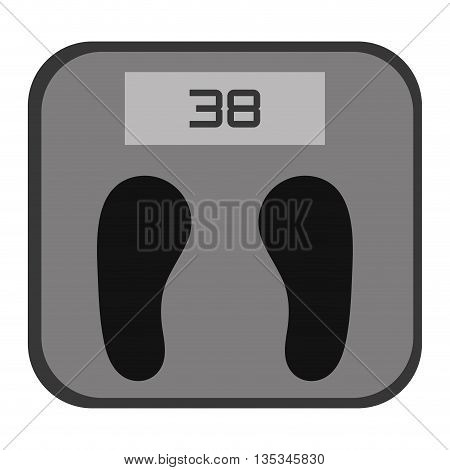 simple grey and black digital weight scale vector illustration