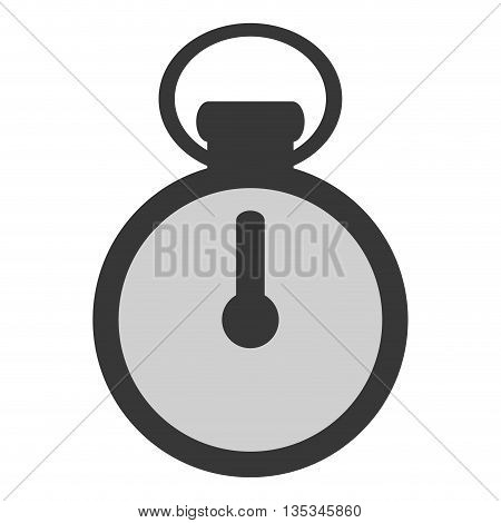 simple black and grey chronometer without numbers vector illustration