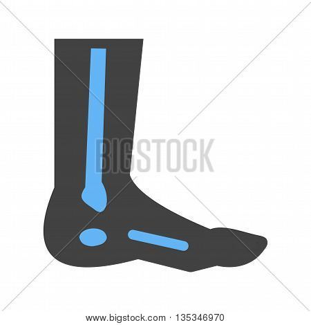 Foot, fingers, body icon vector image. Can also be used for human anatomy. Suitable for mobile apps, web apps and print media.