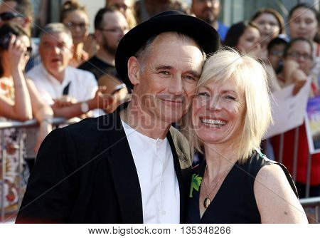Mark Rylance and Claire van Kampen at the Los Angeles premiere of 'BFG' held at the El Capitan Theatre in Hollywood, USA on June 21, 2016.