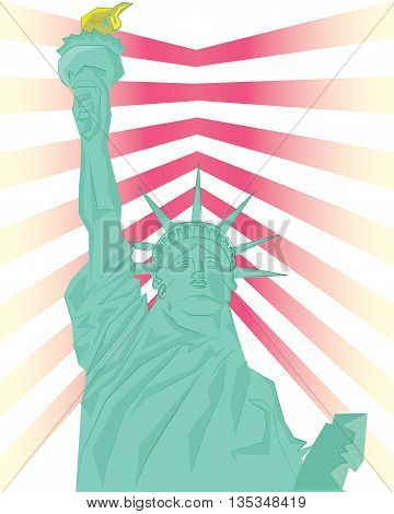liberty statue concept art on isolated background .