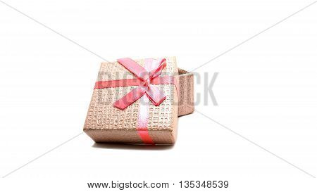 Little red boxs gift on white background