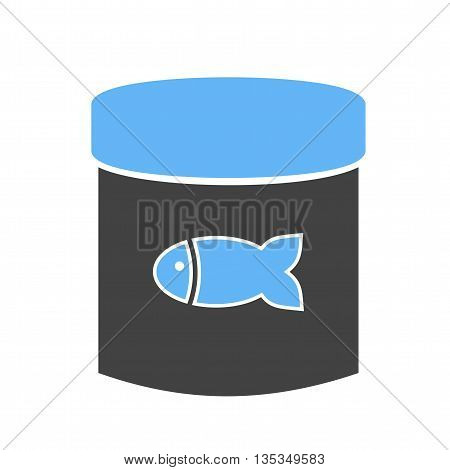 Fish, canned, tuna icon vector image. Can also be used for pet shop. Suitable for use on web apps, mobile apps and print media.