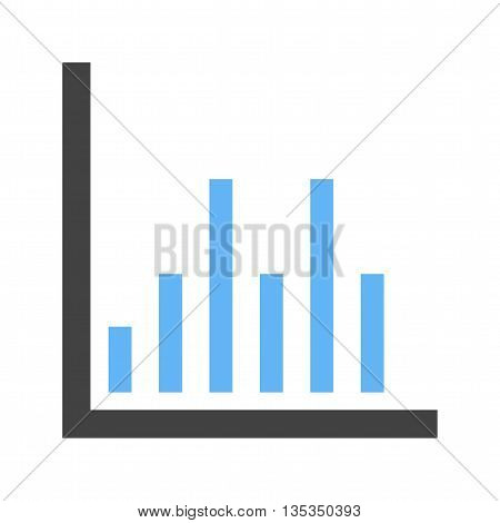 Chart, graph, column icon vector image. Can also be used for infographics. Suitable for use on web apps, mobile apps and print media.