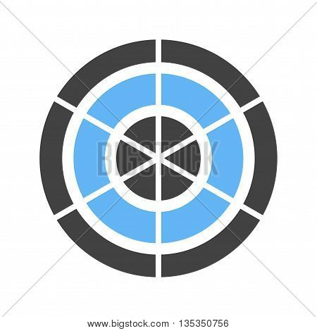 Radar, screen, pie icon vector image. Can also be used for infographics. Suitable for web apps, mobile apps and print media.