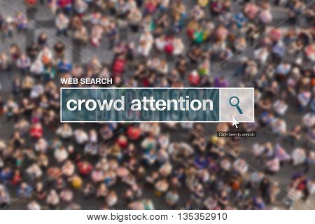 Crowd attention web search box looking for definition in internet glossary.