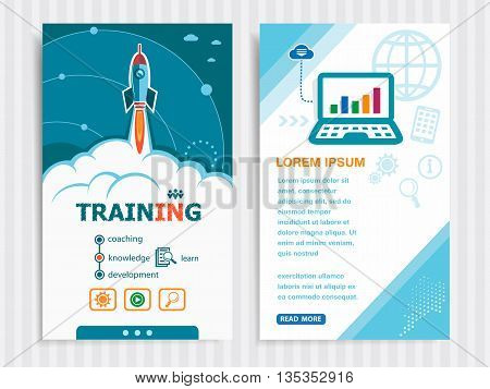 Project Training Template And Set Of Banners.