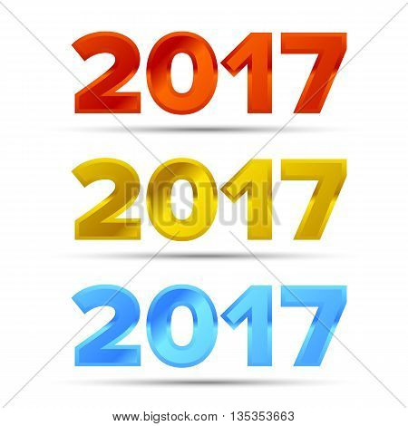 The word 2017 for new year or christmas designs