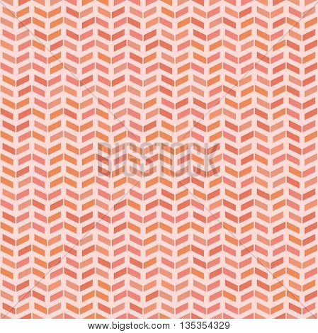 Geometric vector pattern with pink arrows. Seamless abstract background