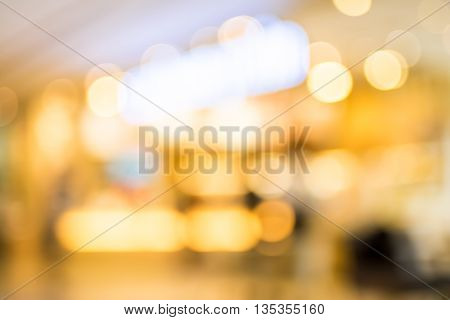 Blurred Background : Customer At Coffee Shop Blur Background With Bokeh,vintage Filter