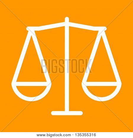 Scale, law, justice icon vector image.Can also be used for elections. Suitable for web apps, mobile apps and print media.