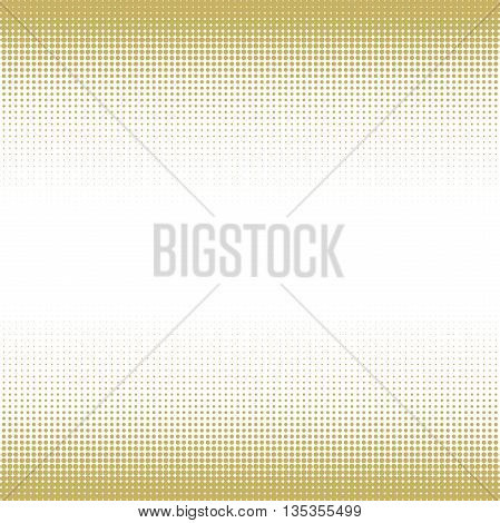 Seamless geometric vector golden pattern. Modern ornament with dotted elements
