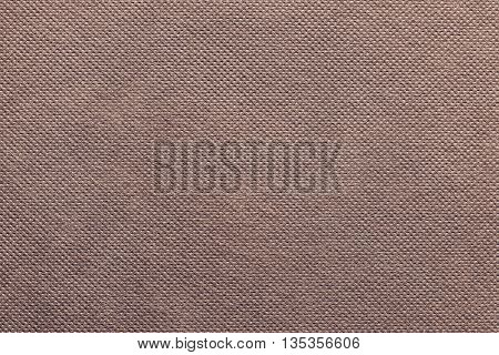 the grooved textured design of fabric with pile for the abstract background and for wallpaper of terracotta color