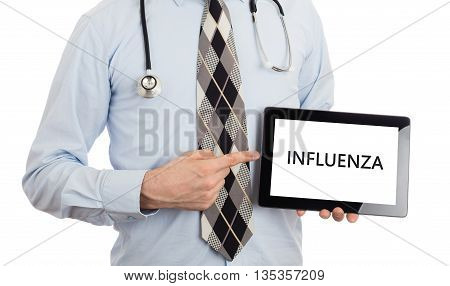 Doctor Holding Tablet - Influenza