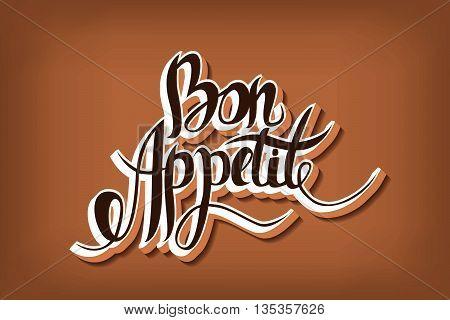 Bon Appetit Hand Drawn Lettering.