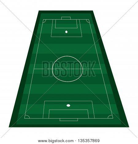 green vertical topview of football field vector illustration