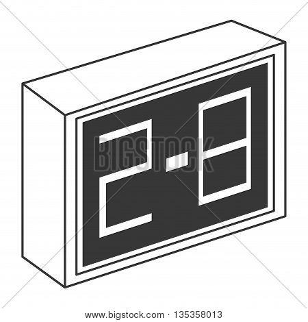simple grey scoreboard vector illustration flat style design