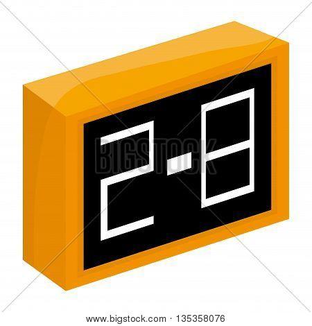simple yellow and black scoreboard vector illustration