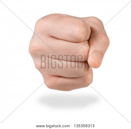 fist icon. Isolated on white background