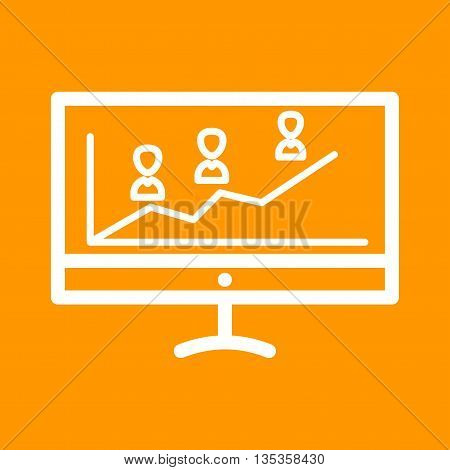 Election, online, graph icon vector image.Can also be used for elections. Suitable for web apps, mobile apps and print media.