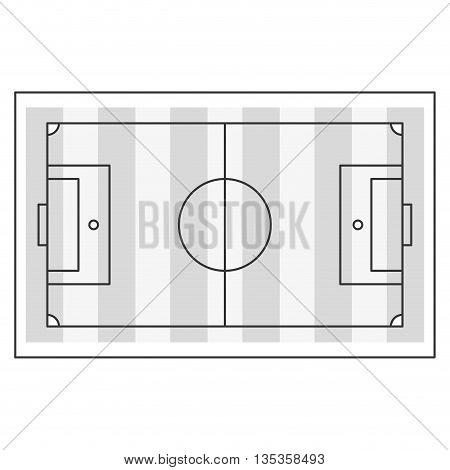 horizontal topview of football field vector illustration