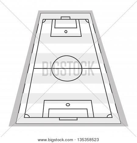vertical topview of football field vector illustration