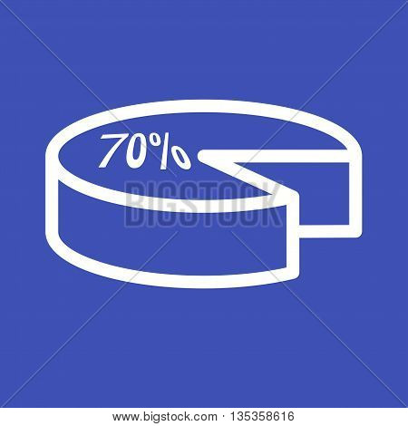 Pie, chart, graph icon vector image. Can also be used for elections. Suitable for use on web apps, mobile apps and print media.