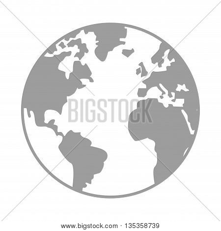 simple earth globe with distinction between earth and land vector illustration