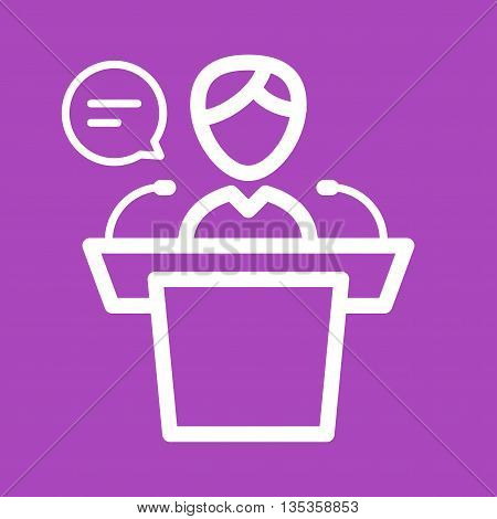 Results, speaker, announcement icon vector image.Can also be used for elections. Suitable for web apps, mobile apps and print media.