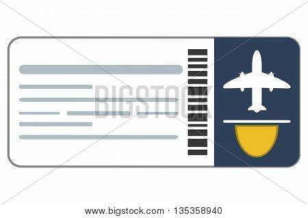 boarding pass airplane ticket vector illustration flat style design