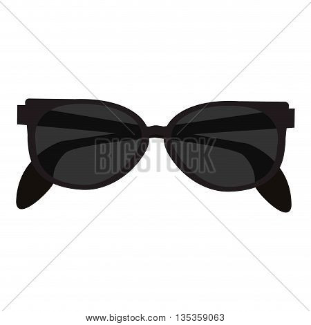 black sunglasses vector illustration flat style design
