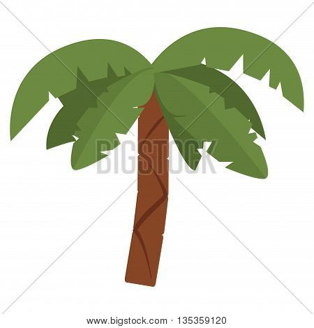 colorful palm tree icon vector illustration flat style design